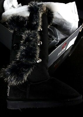 070e06f53b7 AUSTRALIA LUXE COLLECTIVE X Tall Nordic Angel Fur Winter Womens Shoes Boots  8