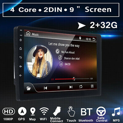 9'' 2DIN Android 8.0 2+32G Stereo Autoradio GPS Nav WIFI bluetooth MP5 DAB+ 2.5D