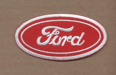 New 1 5/8 X 3 1/4 Inch Ford Red Iron On Patch Free Shipping