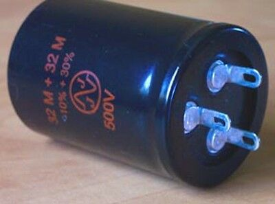 JJ Dual Section Capacitor 32+32uf 500 Volts