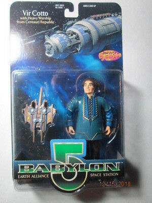 1997 Babylon 5 Collector Series Figures - Vir Cotto W/ Warship - Var # 2