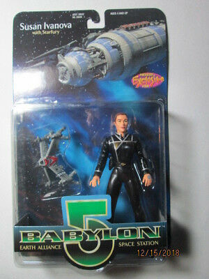 1997 Babylon 5 Collector Series Figures - Susan Ivanova W/ Starfury