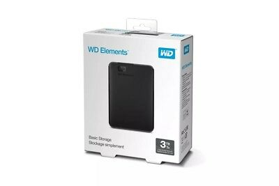 Western Digital WD Elements 3TB Portable Hard Drive (WDBU6Y0030BBK-WESN)