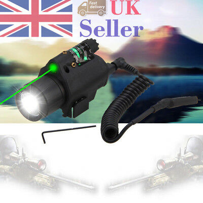 Green Laser Sight With LED Flashlight/Light Combo For Pistol Rail Accessories