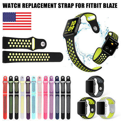 For Fitbit Blaze Watch Replaces Silicone Rubber Band Sport Watch Band Strap S/L