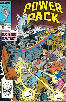 Power Pack Comic Book #49 Marvel 1989 VERY FINE/NEAR MINT NEW UNREAD