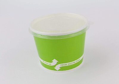 100 Count Green Deli Containers Durable Food Storage Containers with Lids Hot...