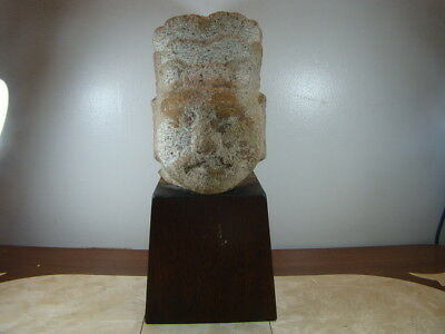 Chinese Ming Dynasty (1368-1644) large stone head of civil servant (Rare)  s2505