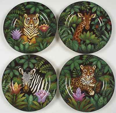 Sakura JUNGLE Set Of 4 Salad Plates 4250910