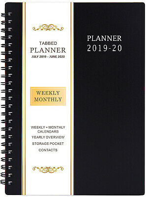 """2019 Weekly Monthly Planner Calendar Appointment Book Day Minder 8"""" x 11"""" Large"""