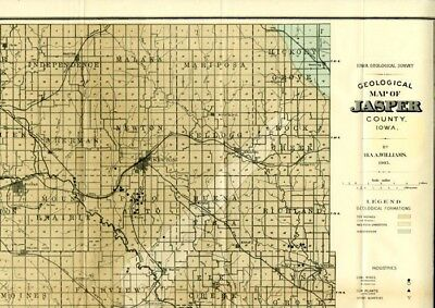 Jasper County Iowa Map.Iowa Jasper County Map Kellogg Township C 1901 K10 72 29 95