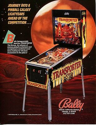 Transporter Bally Pinball Flyer Mint / Brochure / Ad