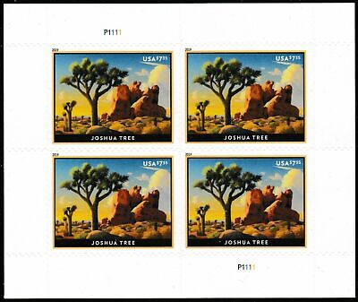 #5347 2019 Joshua Tree Priority Mail Plate Block - MNH