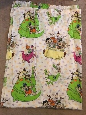 Vintage Hanna Barbera The Flintstones Twin Flat Bed Sheet