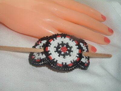 VTG Hand Crafted Beaded Southwest Bun Hair Clip in Gift Box