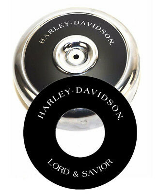 """Harley-Davidson LORD & SAVIOR 8"""" Round Air Cleaner Filter Cover Insert Decal Evo"""