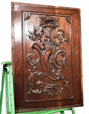 GOTHIC MEDIEVAL COAT OF ARMS PANEL Antique french carving architectural salvage