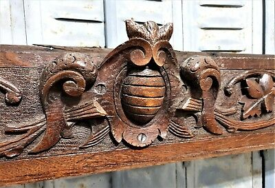 Gothic coat of arms pediment antique french panel trim architectural salvage