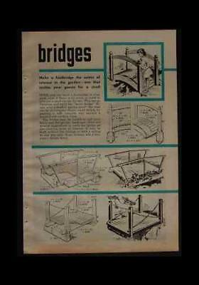 Garden Foot Bridges & Wooden Fences HowTo build PLANS