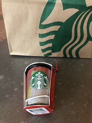 NEW Starbucks 2018 Christmas Ornament MULTICOLOR GLITTER SPARKLE WAVE