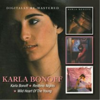 Karla Bonoff/Restless Nights/Wild Heart of the Young (UK IMPORT) CD NEW