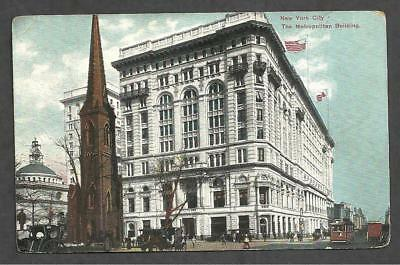 M1753 - Antique Postcard, New York City,the Metropolitan Building - Made/germany