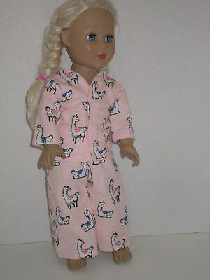 "Llama/Hearts Pajamas 18"" Doll Clothes American Girl"