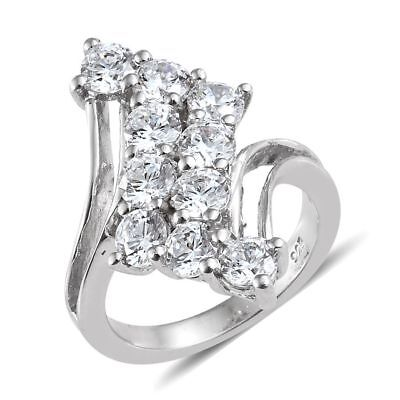 6fcb7e03c J Francis Platinum Overlay Sterling Silver Ring Made With Swarovski®  Zirconia