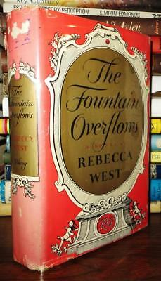 West, Rebecca THE FOUNTAIN OVERFLOWS 1st Edition 1st Printing