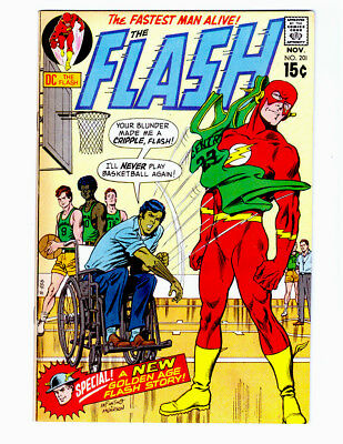 THE FLASH #201 in VF+ condition a DC comic 1970 Silver Age  & GOLDEN AGE FLASH