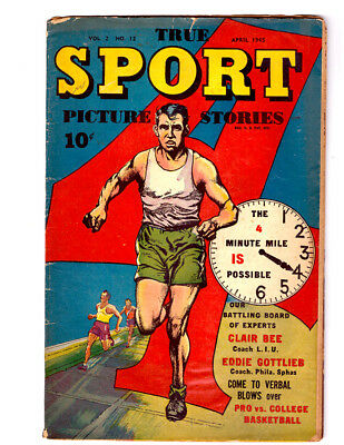 TRUE SPORT PICTURE STORIES Vol. 2 #12 in VG+ condition a 1945 Golden Age comic