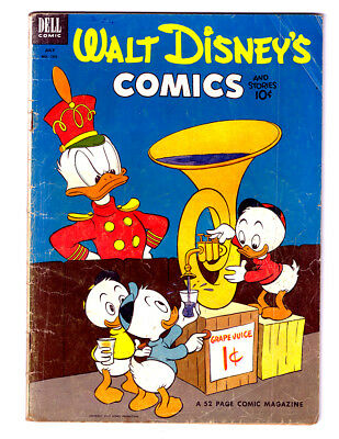 Walt Disney's COMICS and STORIES #154  in VG- from 1953 Dell Golden Age Comic