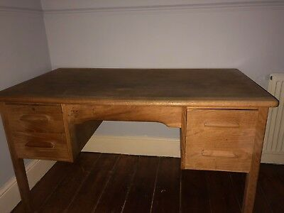 Vintage Wooden Desk Writing Desk Office Teachers Mid Century
