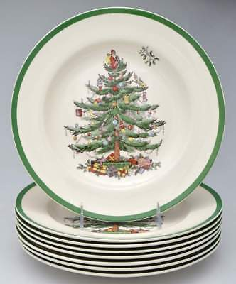 Spode CHRISTMAS TREE Set of 8 Dinner  Plates 10871056
