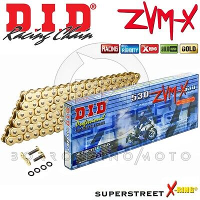 CHAIN DID 530ZVM-X (Gold & gold) 120 LINKS SUZUKI GSF N 1250 BANDIT YEAR 2010