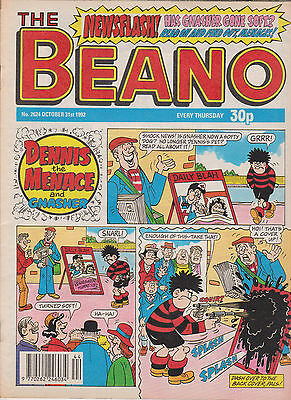 VINTAGE The BEANO UK COMIC October 31st 1992 No 2674 Original Birthday Gift