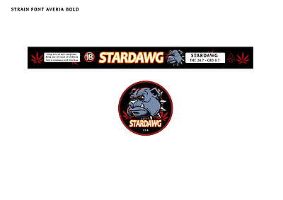 STARDAWG 100ML PRESSITIN LABELS (Cali/Tuna Tin Labels/Stickers - 10 CAN PACK)