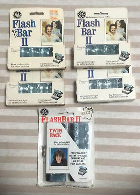5 Packs Of GE Flash Bar II - 60 Lamps In All - for SX-70 Cameras