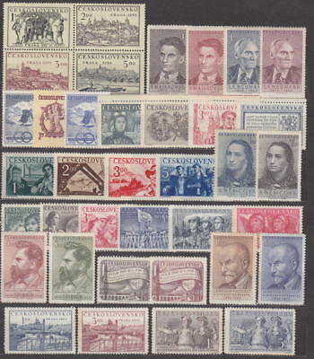 Czechoslovakia - 1950 Complete Year Set Stamps- Jahrgang - **mnh** - Cheap !!