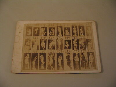 Photographer Ordering Catalog Cabinet Card Photo cdii Sculpture Stage