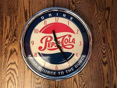 DRINK PEPSI-COLA More Bounce To The Ounce WALL CLOCK