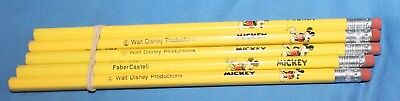Lot Of 5 Rare Vintage Disney Mickey Mouse Pencils Faber Castell