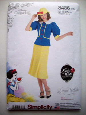 SIMPLICITY PATTERN 8486 H5 SNOW WHITE COSTUME MISSES SIZES 6