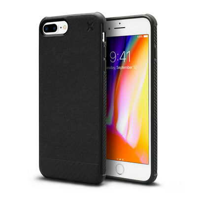 Casetify X Couverture etui de protege durable Noir en TPU pour iPhone 7 8plus