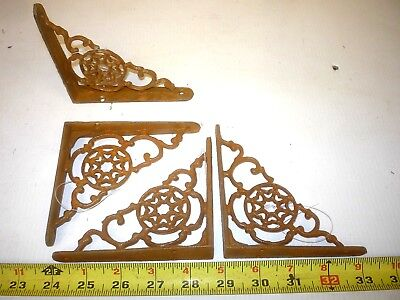 2 Small Old Antique Style Wall  Shelf Bracket  Porch Corbel  Cast Iron