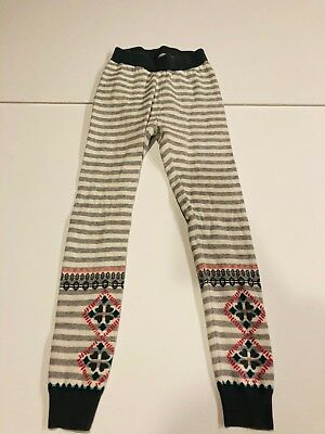 d215ee61ce2c4 HANNA ANDERSSON Girls Gray Fair Isle Nordic Footless Tights- Sz 130-140 US 8