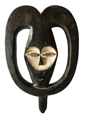 "Tribal Ceremonial Kwele Mask, Gabon, Africa16.5"" H"