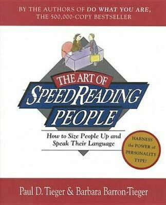NEW The Art Of Speedreading People By Paul Tieger Paperback Free Shipping