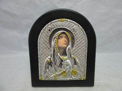 Russian icon with crying Virgin Mary