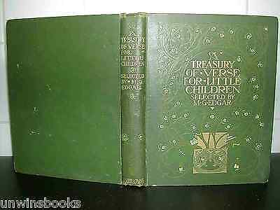 A TREASURY of VERSE for LITTLE CHILDREN 1908 1st ills WILLY POGANY Colour Plates